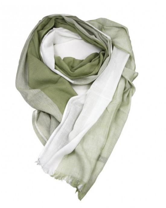 Sage Green Cotton Viscose Scarf