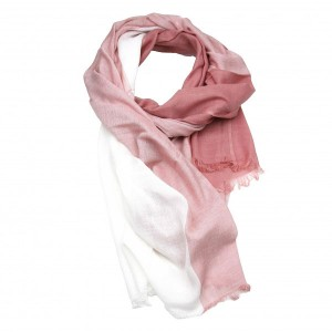 Salmon Pink Cotton Viscose Scarf Shawl