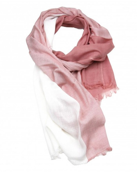 Salmon Pink Cotton Viscose Scarf Shawl