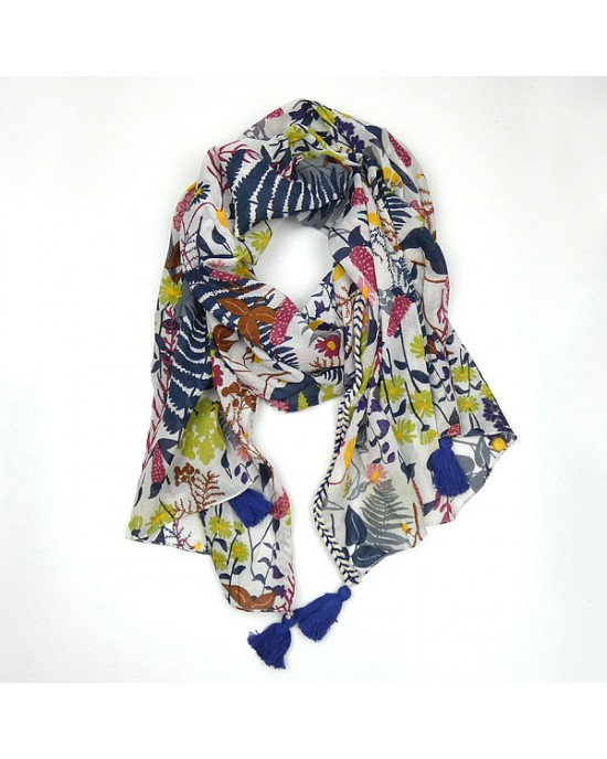 Cotton Wild Flower Scarf