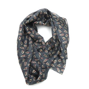 Silk Scarf in Logan Grey
