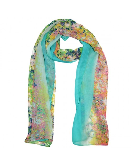 Silk Blended Scarf with Field Flower Design - SCARVES, SHAWLS, PASHMINAS