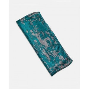 Silk Scarf Baroque Teal