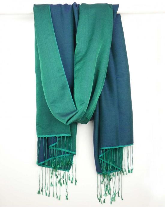 Silk Scarf, Blue Emerald