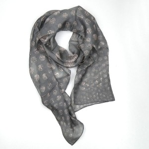 Silk Scarf Spot Grey