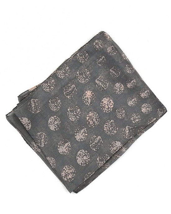 Silk Scarf Dot Grey