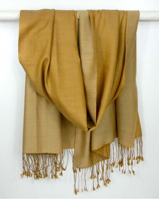 Silk Scarf, Gold, Reversible