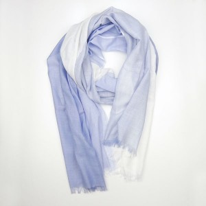 Soft Blue Summer Pashmina Shawl