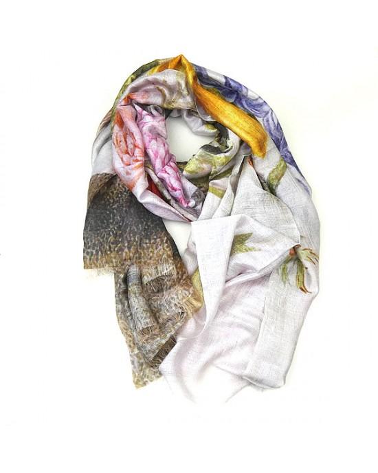 Silk Modal Spring Flower Scarf - SCARVES, SHAWLS, PASHMINAS