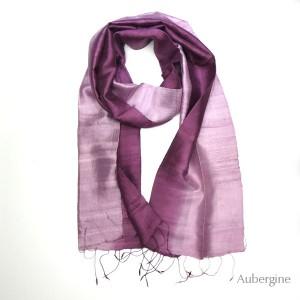 Silk Scarf - Aubergine