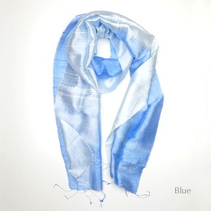 Silk Scarf - Blue