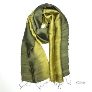 Silk Scarf - Olive