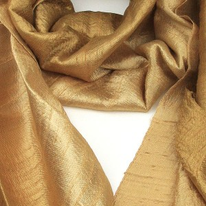 Silk Scarf - Gold